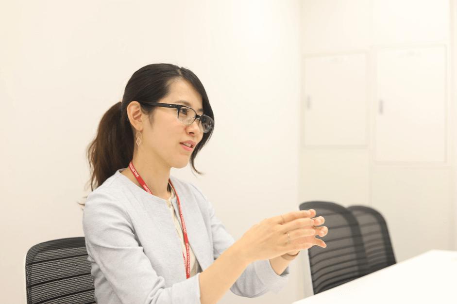 Geppoの運用について語るユナイテッド&コレクティブ 経営企画部 中村麻衣さん